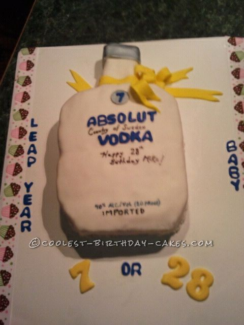 Birthday Cake Toy : Coolest absolut vodka cake