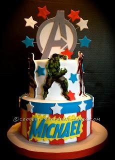 Coolest Avengers Birthday Cake