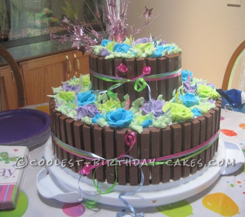 Awesome Sweet 16 Birthday Flower Basket Cake