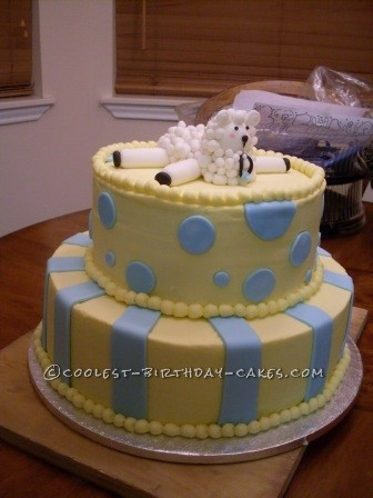 Coolest Baby Shower Sheep Cake
