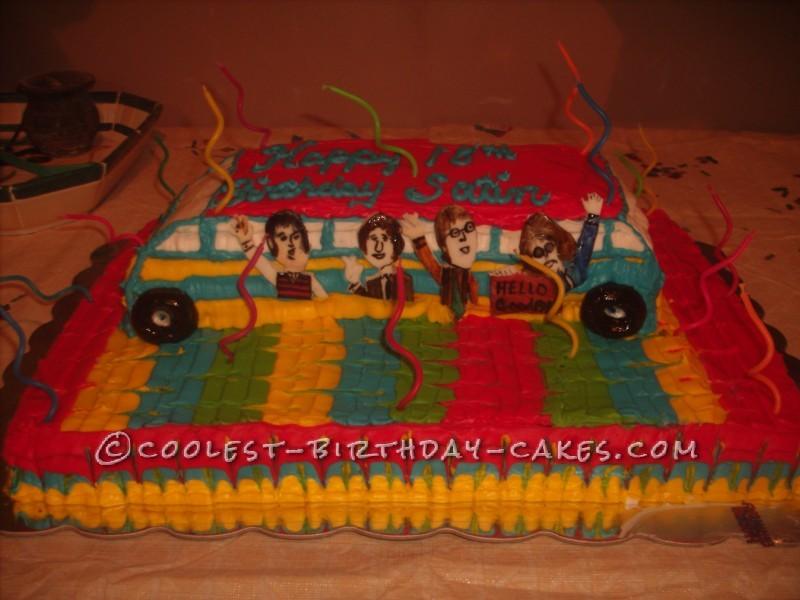 Coolest Beatles Birthday Cake