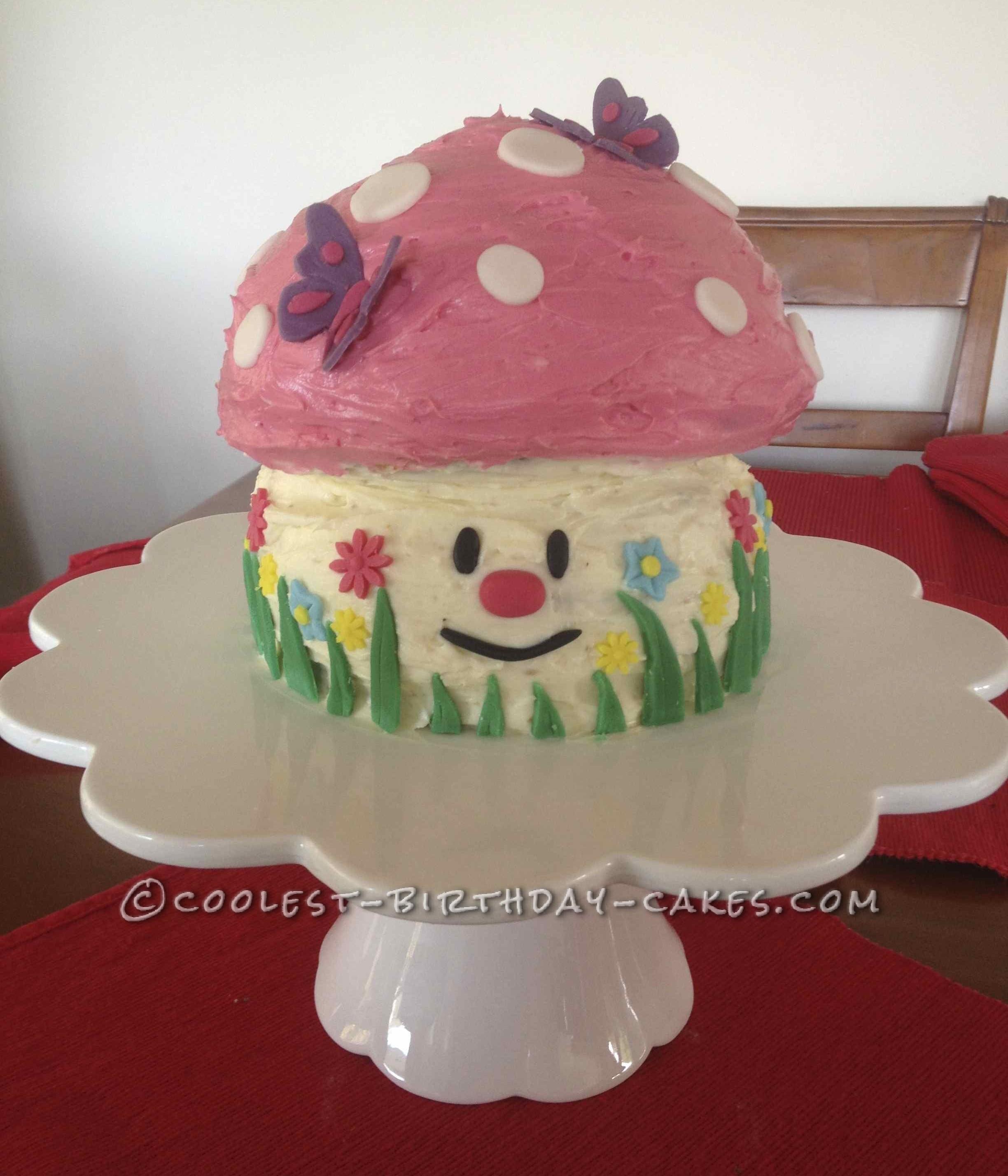 Coolest Mushroom Birthday Cake