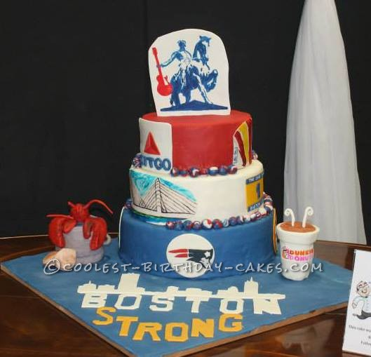 Brilliant Boston Strong Benefit Concert Cake Personalised Birthday Cards Paralily Jamesorg
