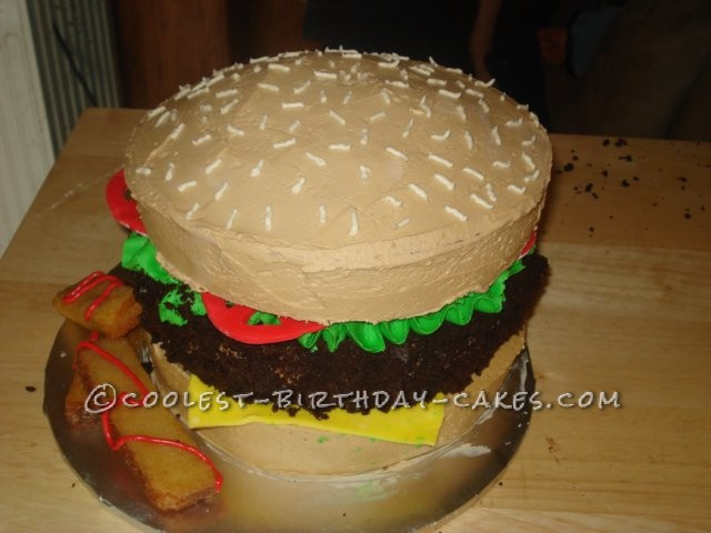 Coolest Cheeseburger and Fries Cake