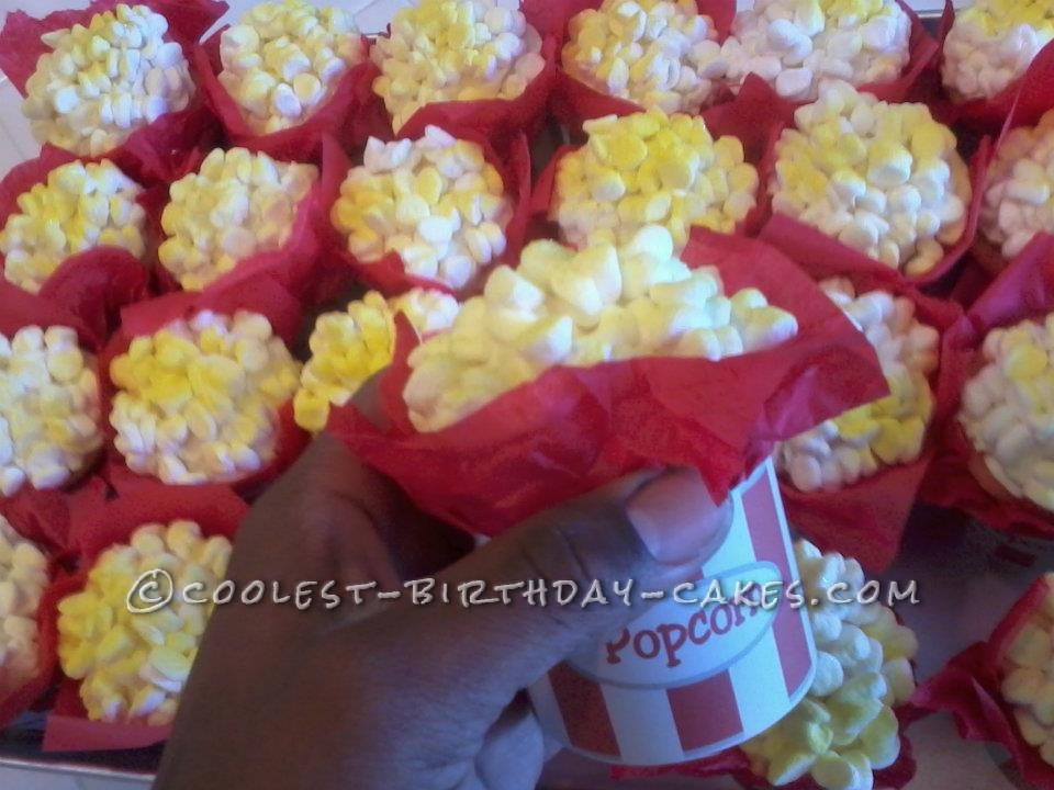 Circus or Movie Themed Poppin' Cakes