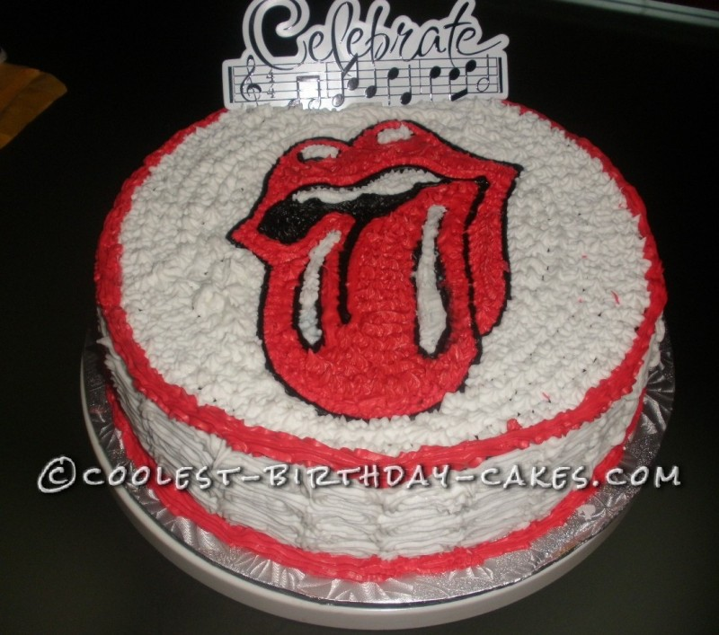 Coolest Rolling Stones Tongue Logo Cake