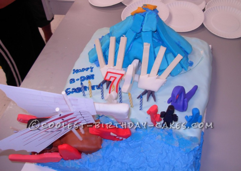 Cool Ninjago and Dragon Birthday Cake