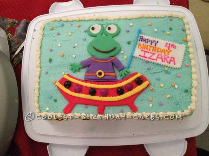 Coolest Alien Birthday Cake