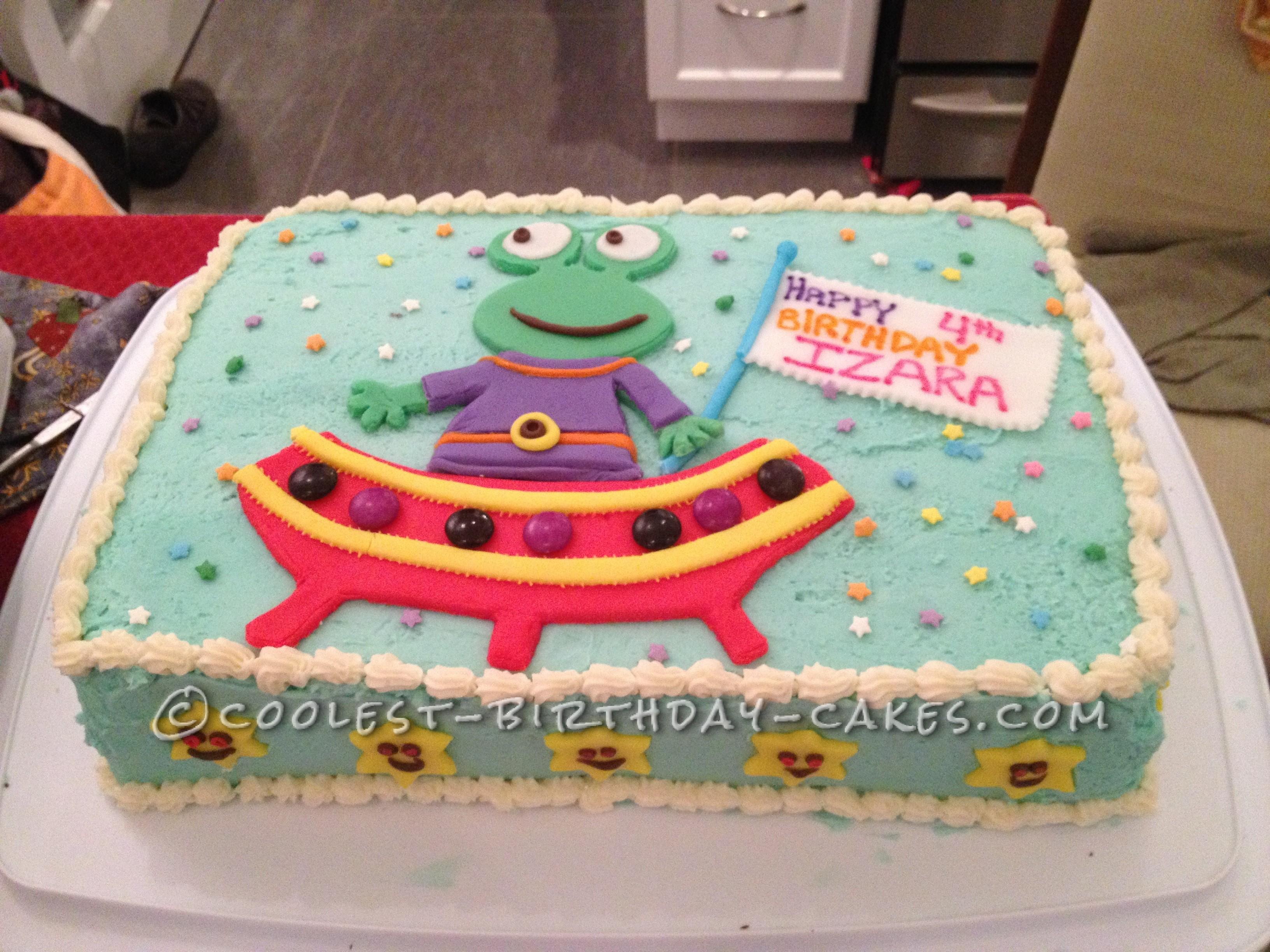 Coolest Alien Birthday Cake