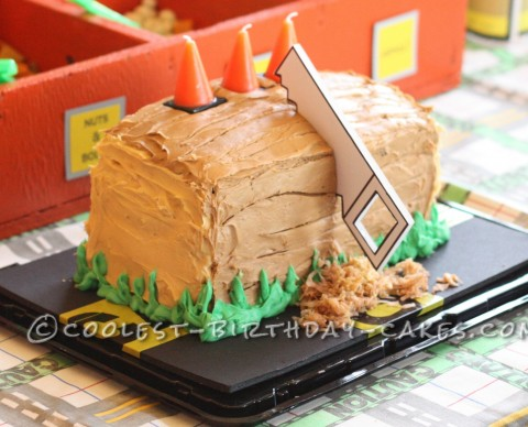 Coolest Block of Wood Birthday Cake