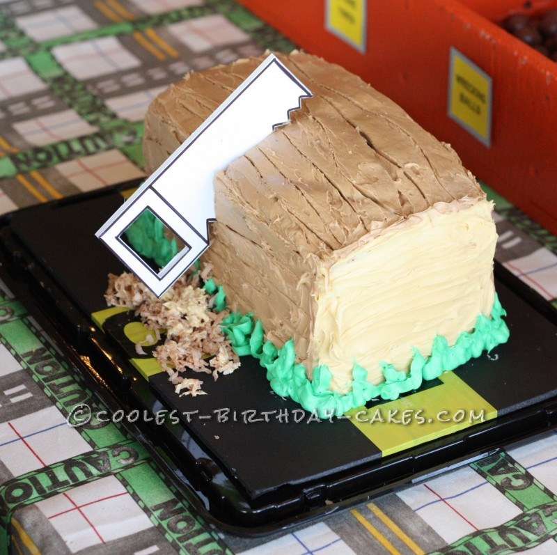 Coolest Block of Wood Birthday Cake