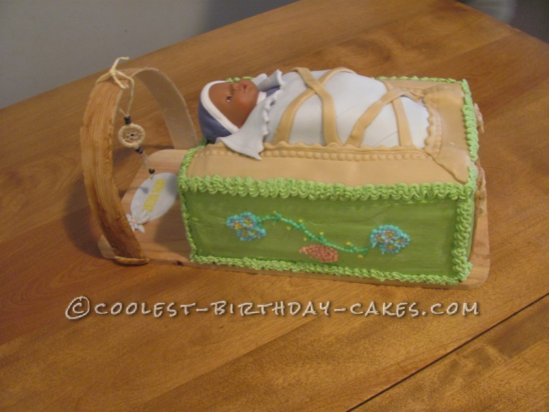 Coolest Cradle Board Baby Shower Cake