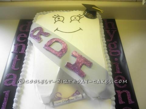 Coolest Dental Hygiene Graduation Tooth Cake