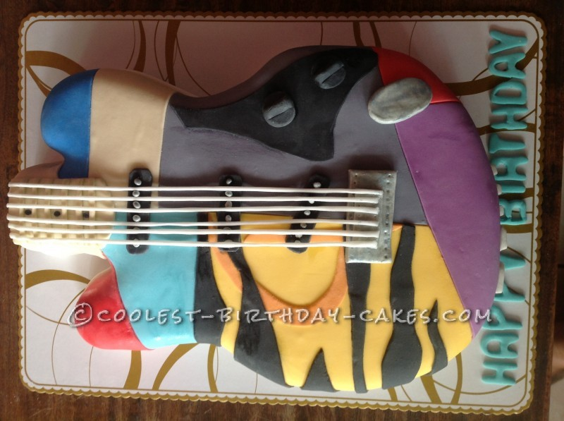 Coolest Electric Guitar Birthday Cake