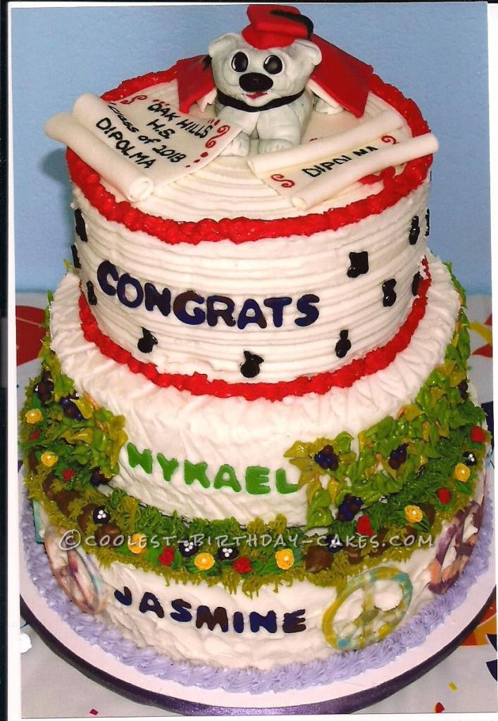 Coolest Graduation Times Two Cake
