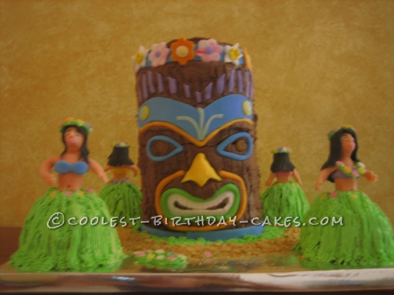 Fabulous Coolest Homemade Luau Scene Cakes Funny Birthday Cards Online Overcheapnameinfo