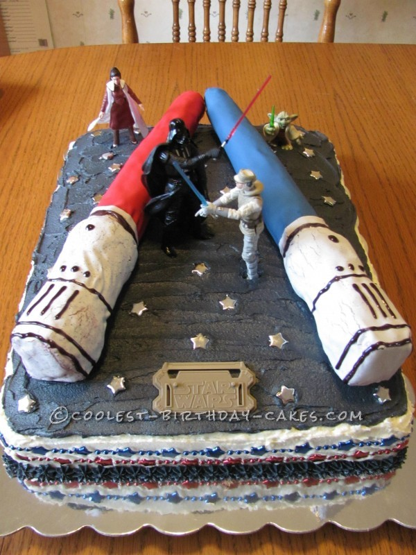 "Coolest ""May the Force Be With You"" Birthday Cake"