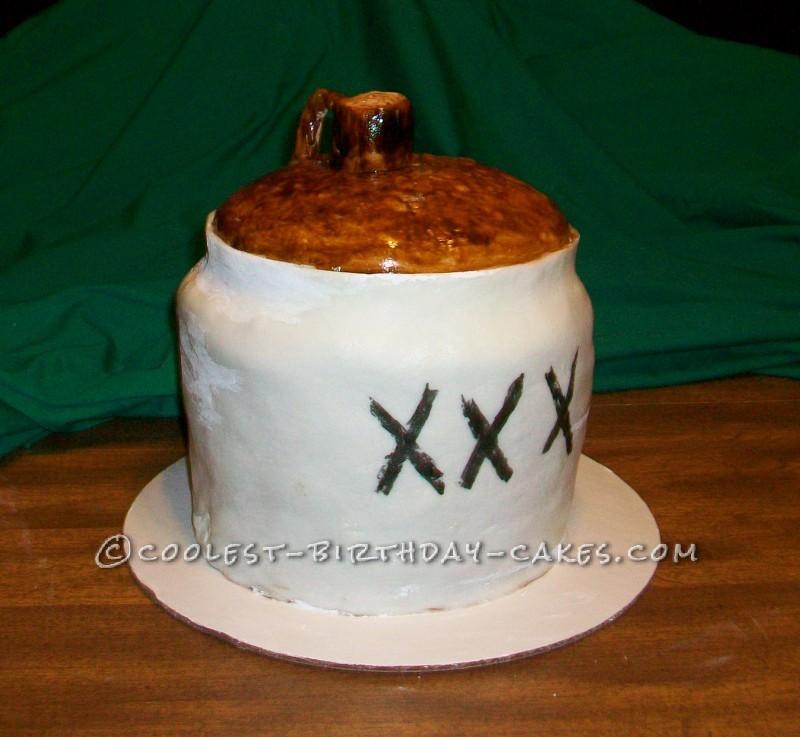 Coolest Moonshine Jug Cake