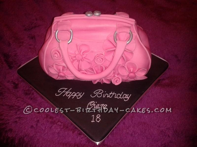 Handbag Cakes Images Coolest Pink Handbag Cake
