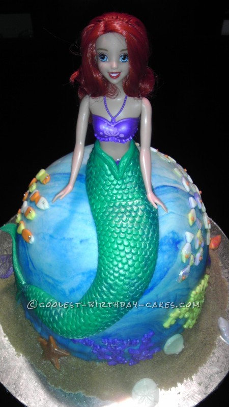 Coolest Princess Ariel Birthday Cake