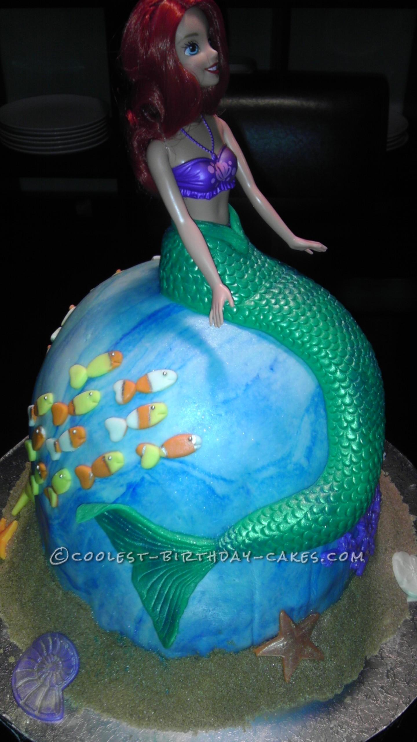 Coolest Princess Ariel Birthday Cake