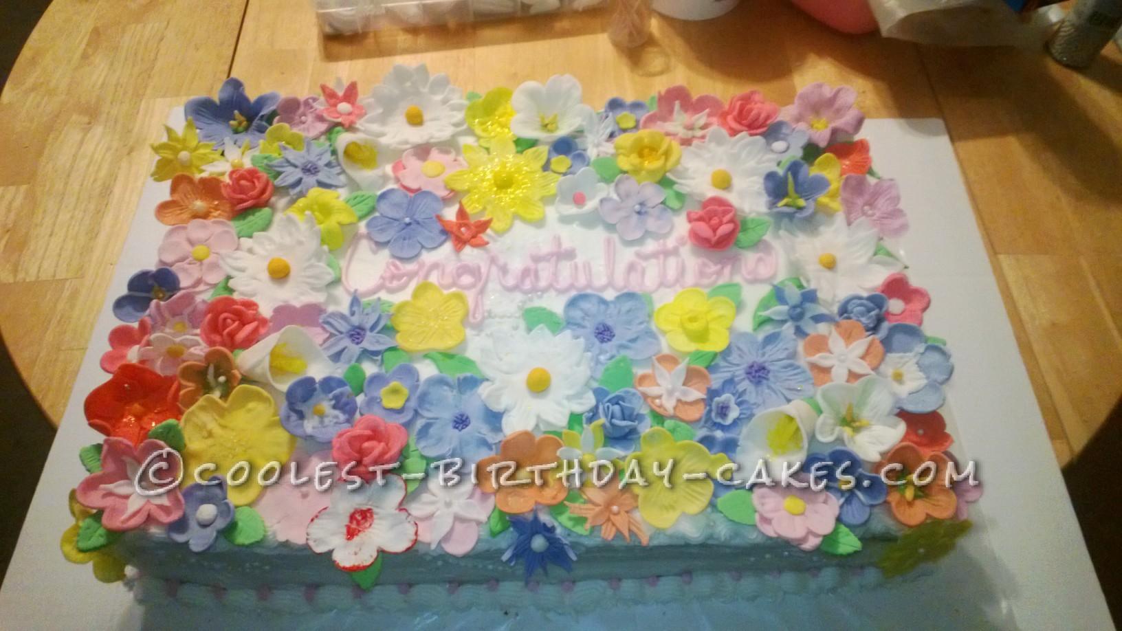 Coolest Spring Flower Cake