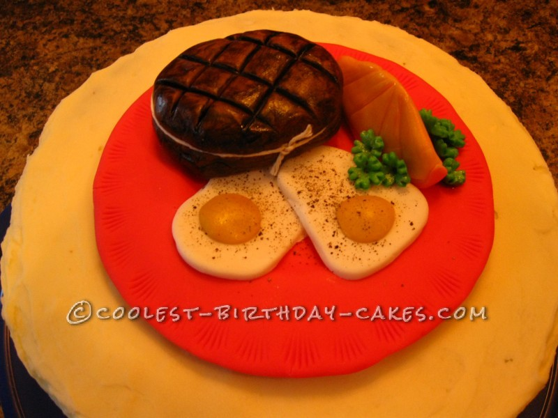 Coolest Steak and Eggs Cake