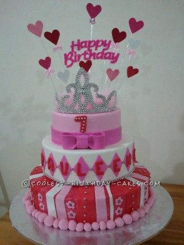 Coolest Three Tiered Princess Cake