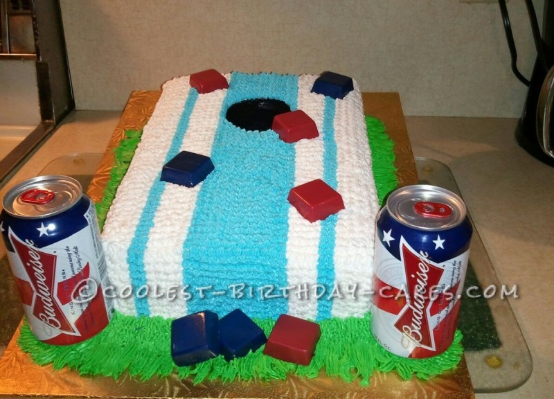 Coolest Cornhole Cake