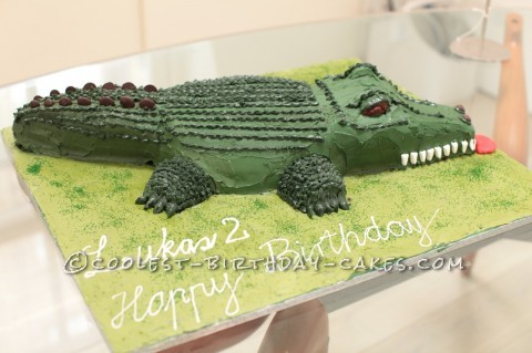 Coolest Crocodile Cake for 2-Year Old