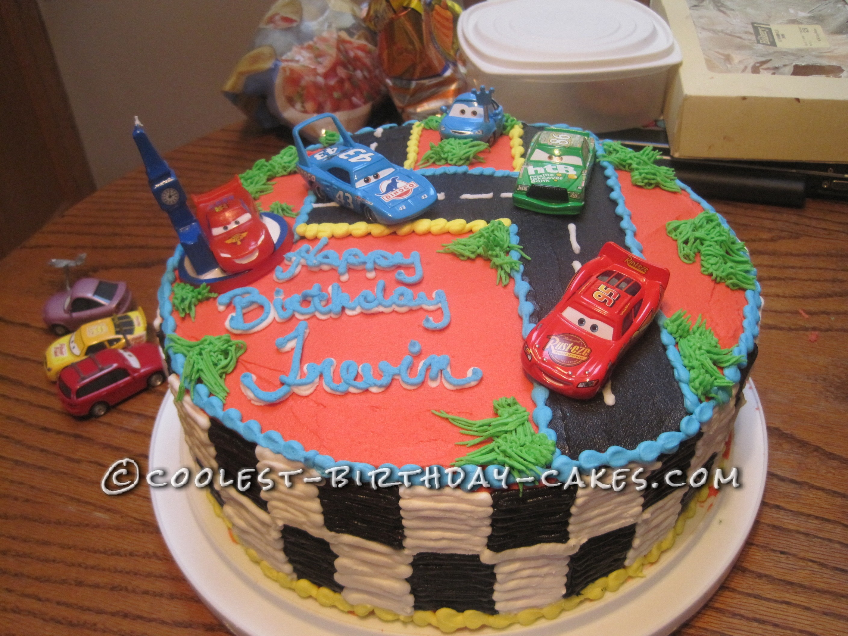Coolest Cars Birthday Cake
