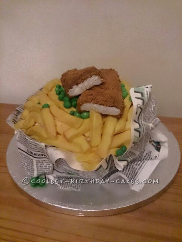 Coolest Fish 'n Chips Cake