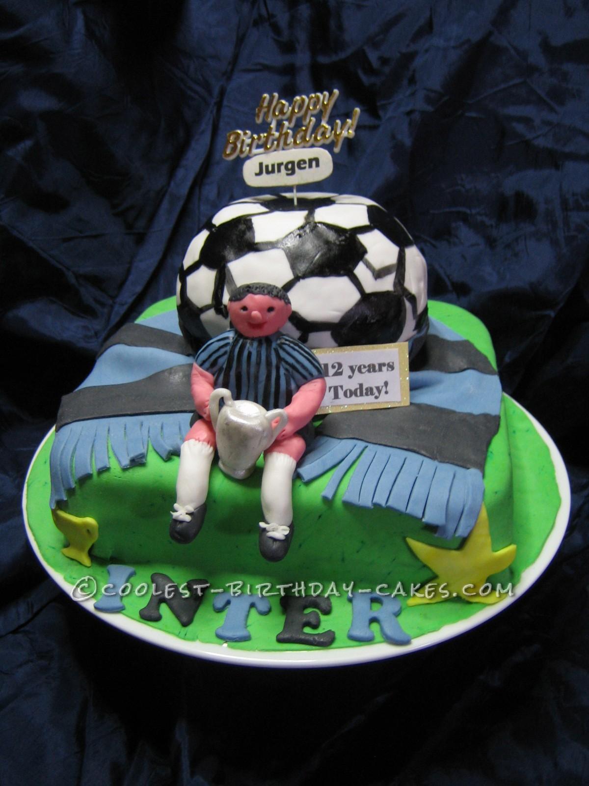 Coolest Soccer Theme Birthday Cake