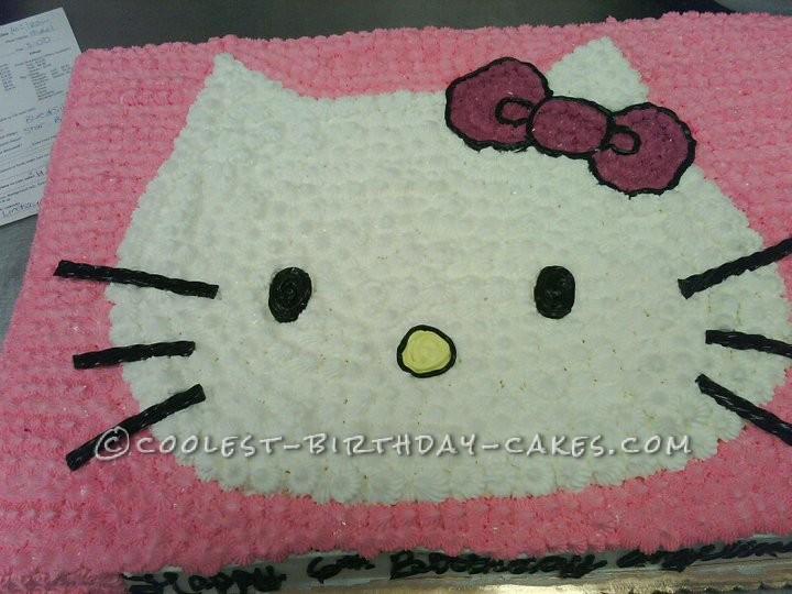 Full Sheet Hello Kitty Star Cake