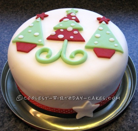 Coolest Funky Christmas Tree Cake