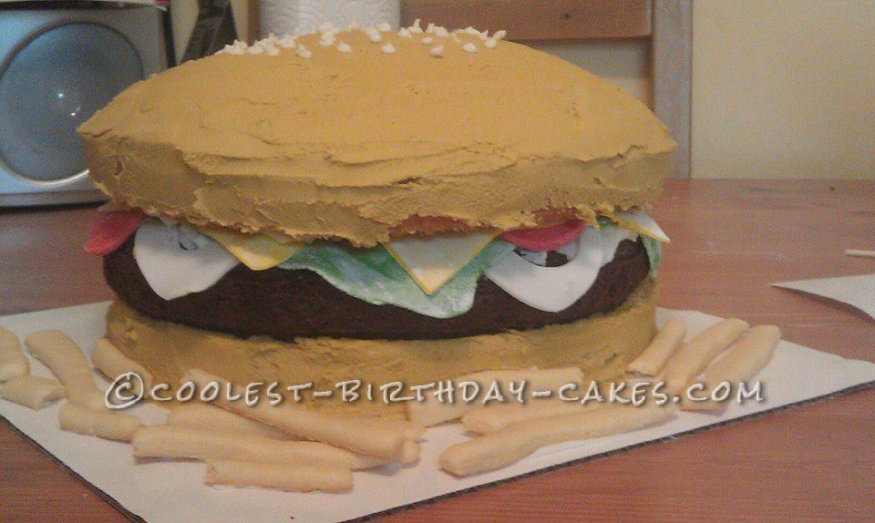 Coolest Hamburger and Fries Cake