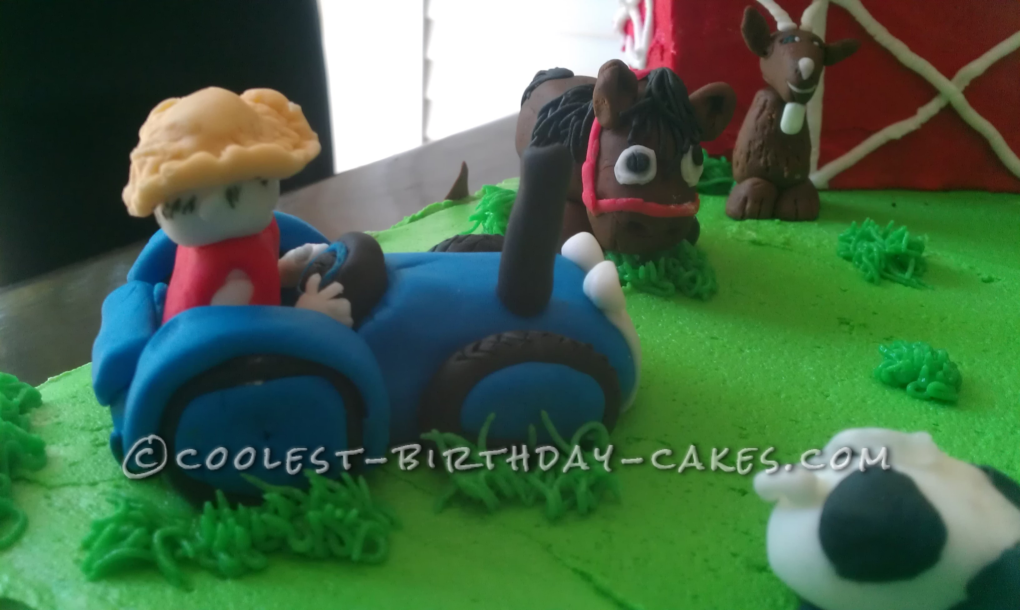 Coolest Farm Scene Birthday Cake