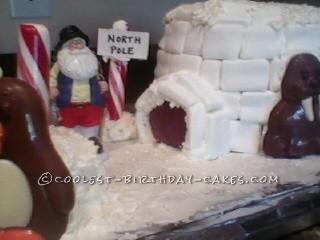 Cool North Pole Igloo Cake