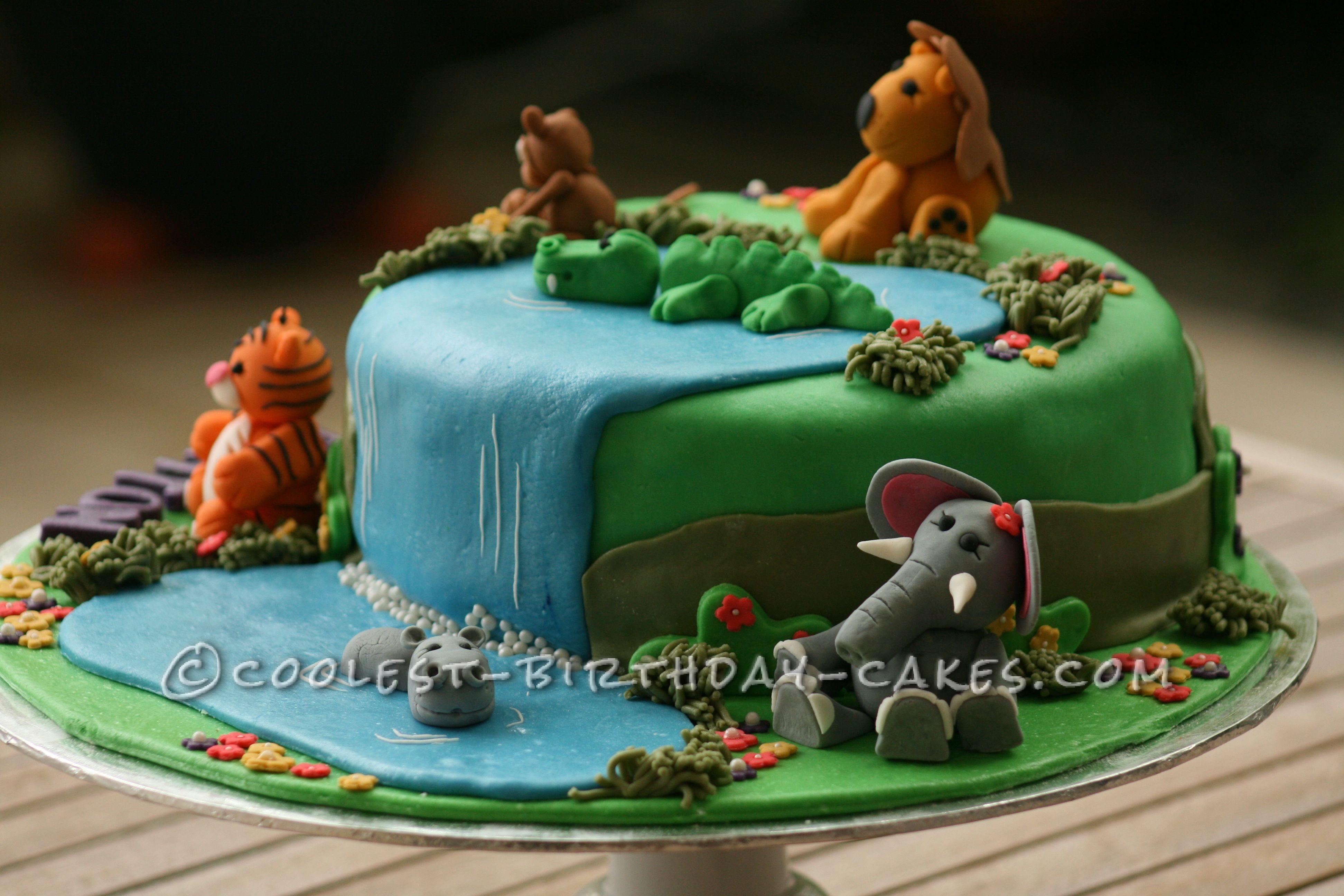 Coolest Jungle Birthday Cake