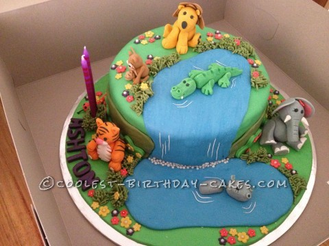 Coolest Jungle Birthday Cake