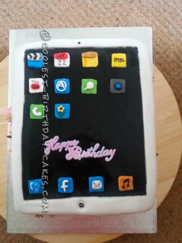Coolest IPad Birthday Cake