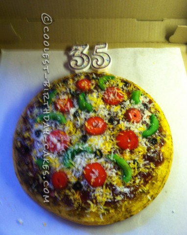 Coolest Pizza Birthday Cake