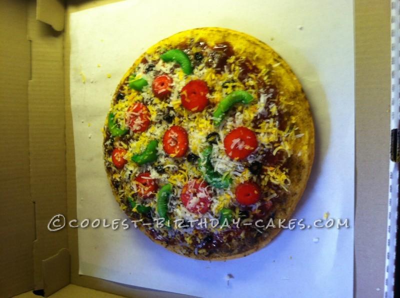Coolest Pizza Birthday Cake