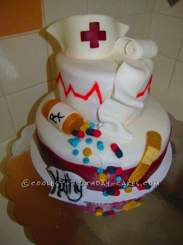 Front view of my Nurse Cake!