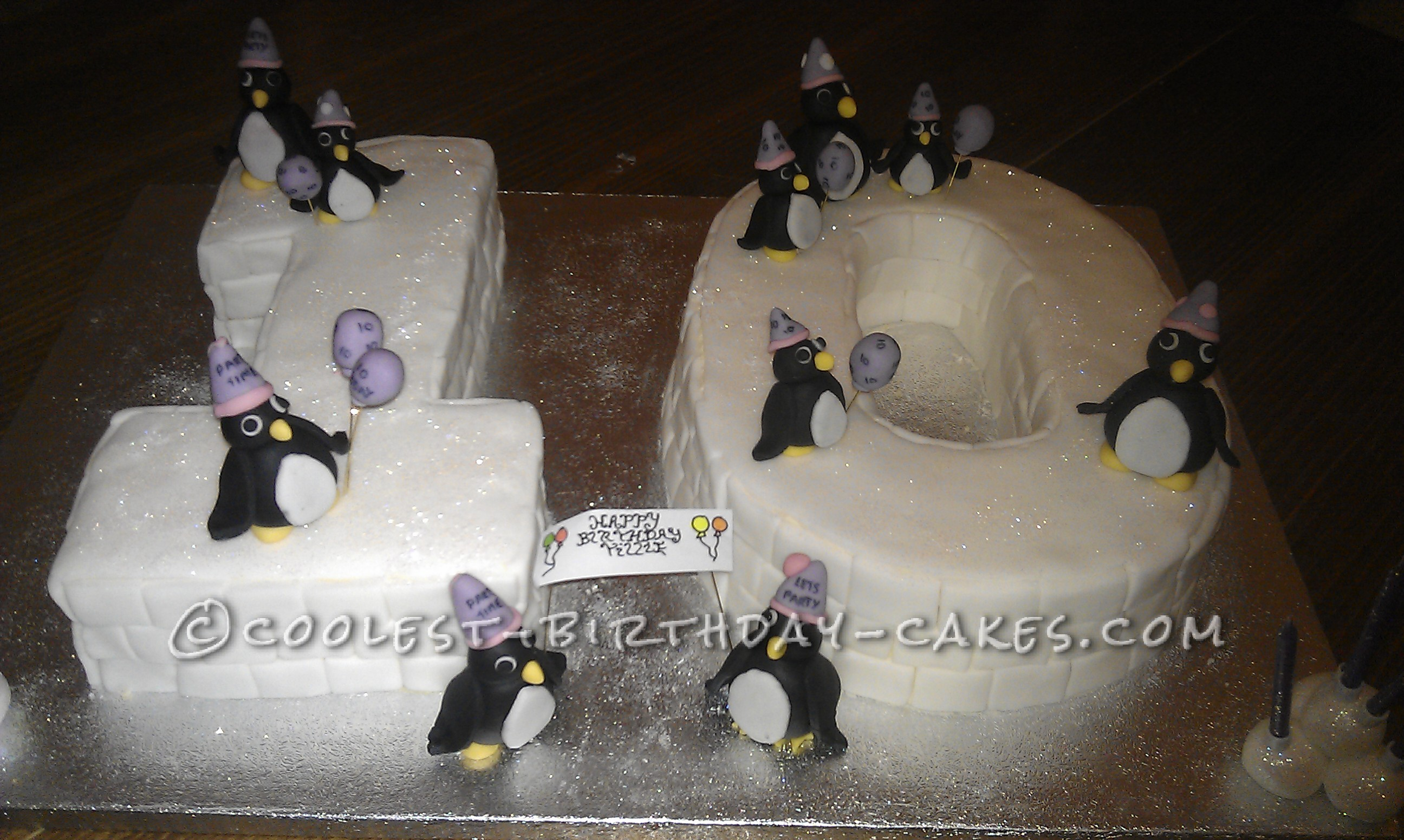 Coolest Penguin Birthday Cake
