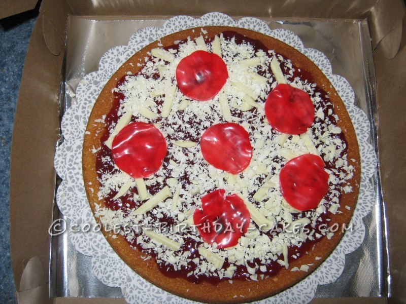 Outstanding Coolest Pepperoni Pizza Cake Funny Birthday Cards Online Elaedamsfinfo