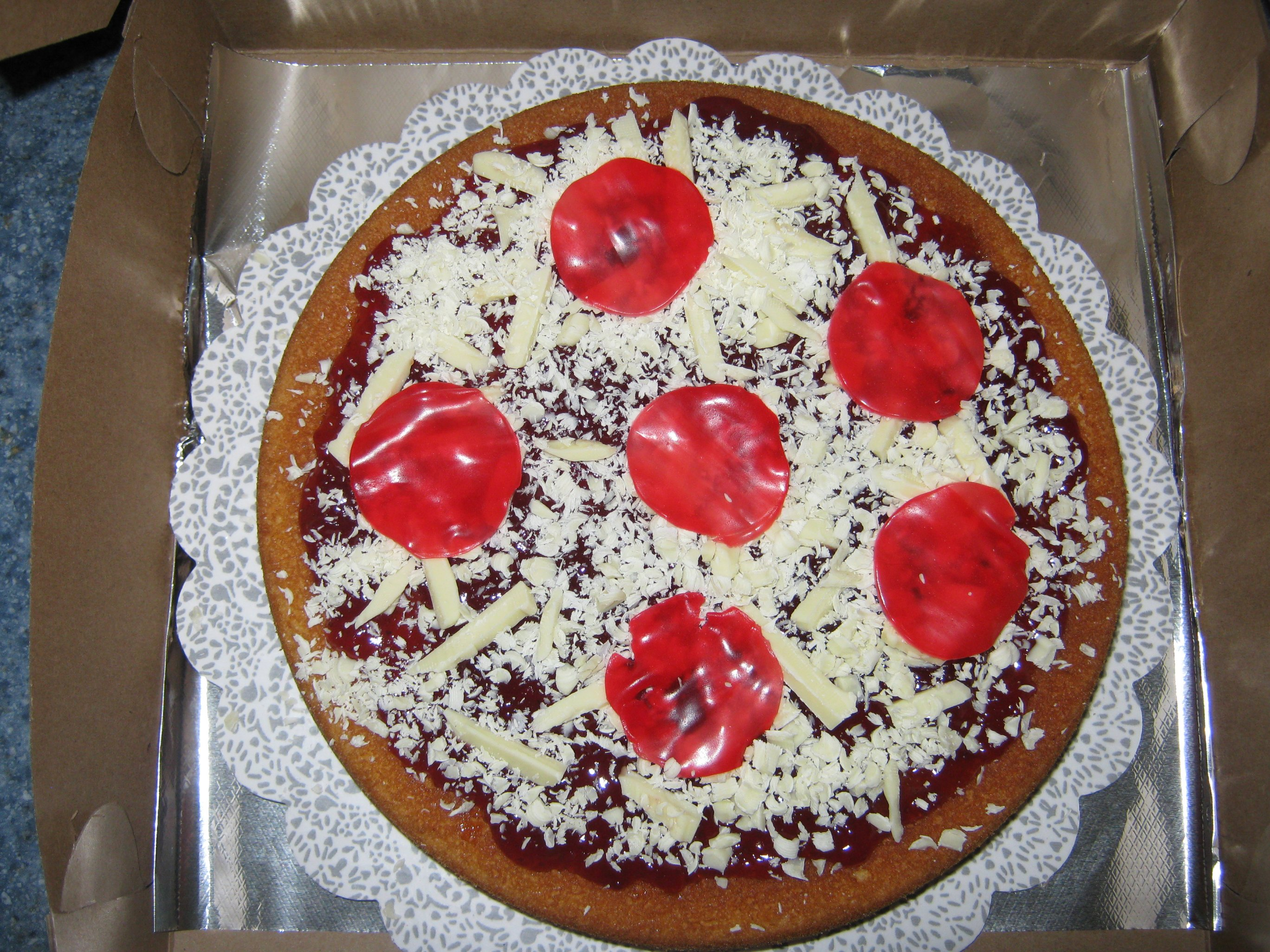 Coolest Pepperoni Pizza Cake