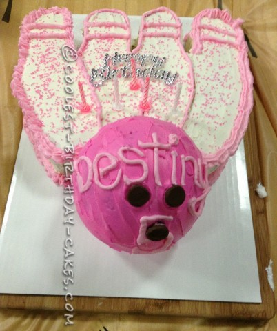 Coolest Pink Bowling Party Birthday Cake