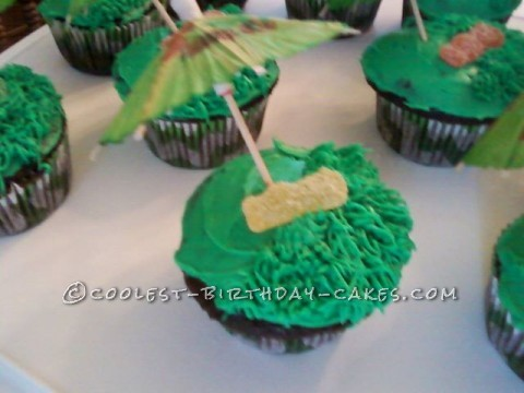 Relaxing in the Shade Cupcakes