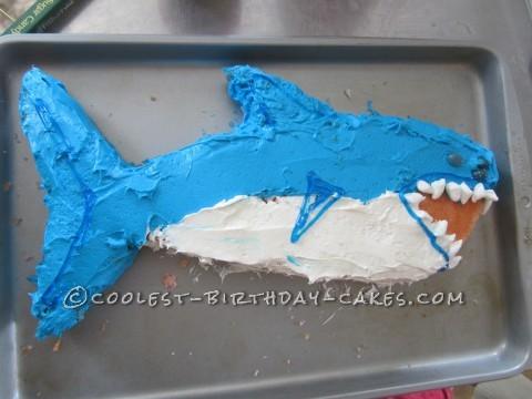 Coolest Shark Birthday Cake